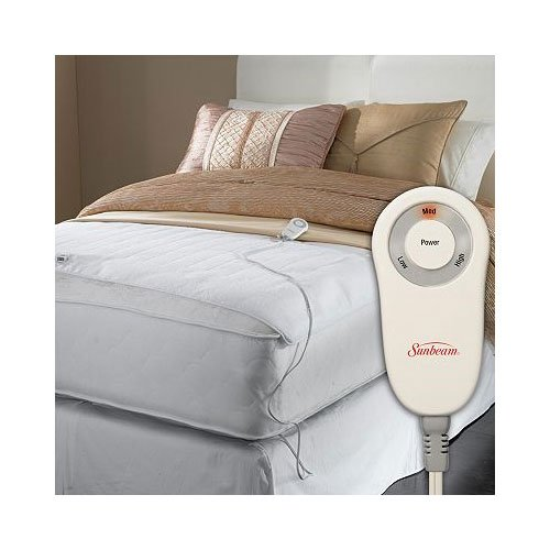 Sunbeam Foot Cuddler Queen/King Heated Mattress Pad