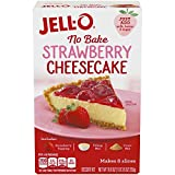 Jell-O No Bake Strawberry Cheesecake Dessert Kit (19.6 oz Boxes, Pack of 6)