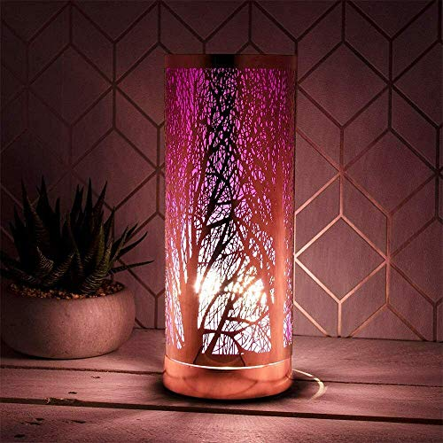 HomeZone Electric Wax Melt Burner Light Aroma Silhouette Touch Lamp Diffuser Wax Warmer Home Fragrance Homeware Scent Lamp (Purple)