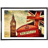 Qqwer ロンドン風景ヴィンテージレトロポスターとプリント家の装飾大きな帆布絵画現代の壁アート画像-50X70Cmx1Pcs-フレームなし