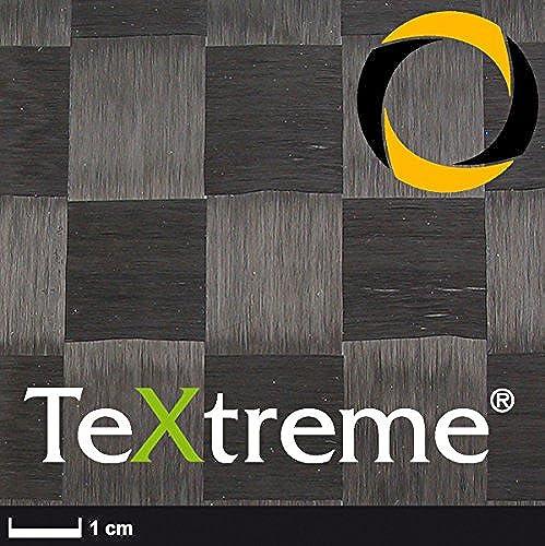 Ascending Composites TeXtreme Kohlegewebe 80 g m2 (Leinwand, HT) 128 cm, Rolle 0,5 m