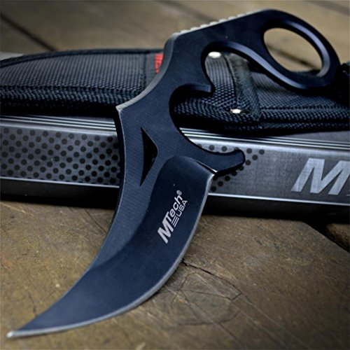 8' M-TECH TACTICAL Full Tang FIXED BLADE KARAMBIT KNIFE G'Store Combat Tactical + SHEATH