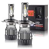 2 Ampoules H4 LED 6300 Lumen, 6000K pour Voiture et Moto...
