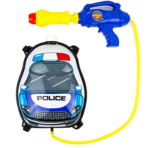 Toysery Police Truck Backpack Watergun | Safe and Durable | Simple to Operate | Best Gift for Kids | Endless Fun for Kids | Recommended for Kids Age 3+