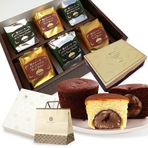 大粒栗のマロンケーキ ロアドマロン 6個入 手提げ紙袋付き お菓子 ギフト 詰め合わせ 個包装