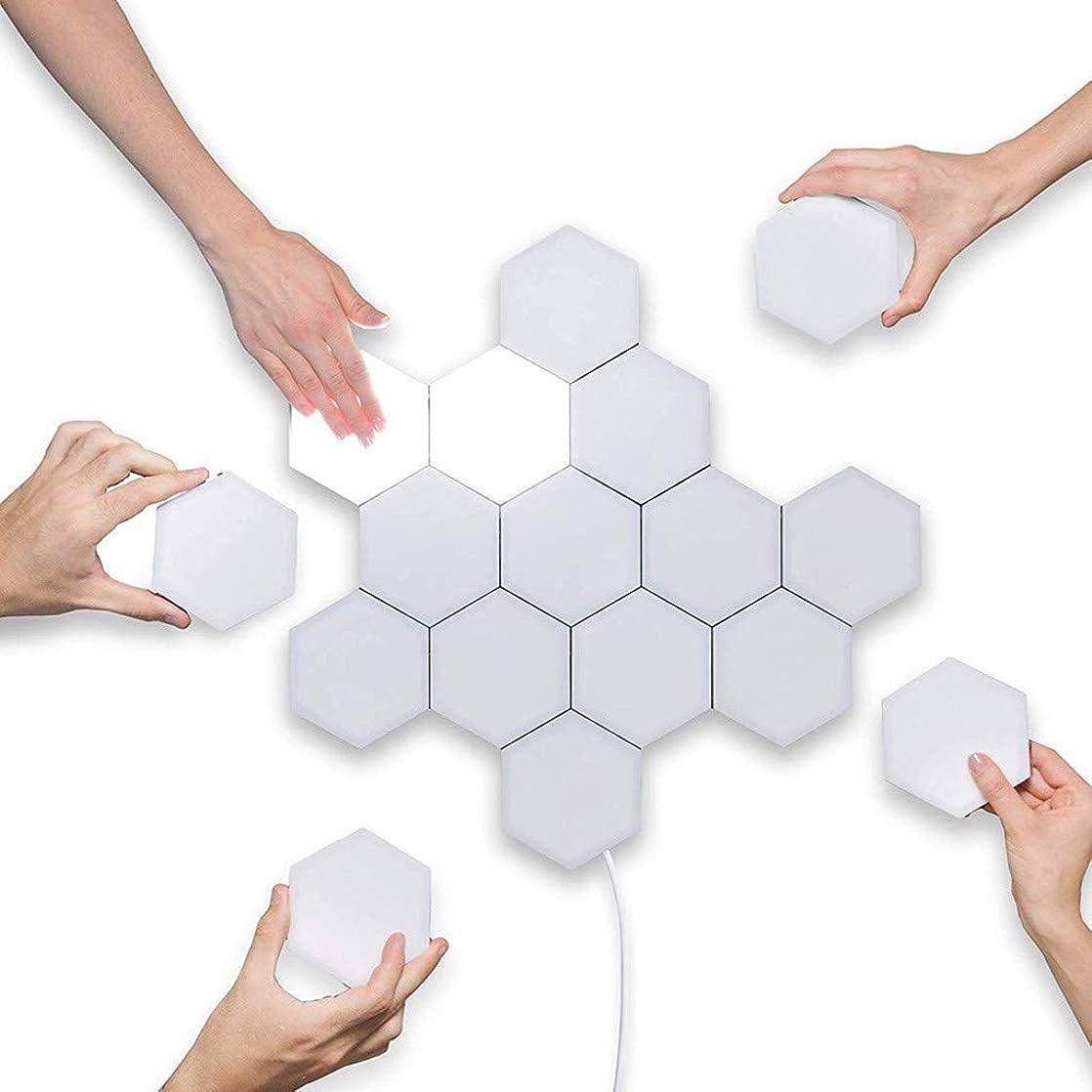 無意味特にエッセンスLED六角ライトクリエイティブジオメトリアセンブリLEDモジュラータッチDIY量子ライトクリエイティブデコレーションウォールスマートLEDライトパネル