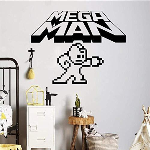 Mega Man Pixels Wall Decal Video Game Logo Wall Vinyl Sticker Retro...