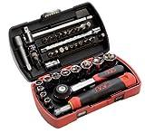 SAM Outillage 73-R39Z Innovation Pocket Light Coffret de douilles/accessoires 1/4' 39 Outils de 5 à 14 mm