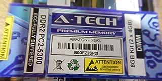 A-Tech 8GB Kit 2X 4GB Memory Ram for DELL PowerEdge 1900 1950 1950 1955 2900 2950 M600 R900 SC1430 PowerVault NF500 NF600 NX1950 Precision Workstation 490 690 690n R5400 R5400 T5400 Studio Hybrid 140G