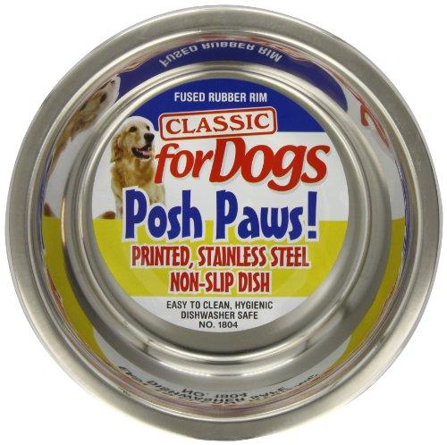 Caldex Posh Paws Lot de 6 gamelles Motif Pattes 1,6 l