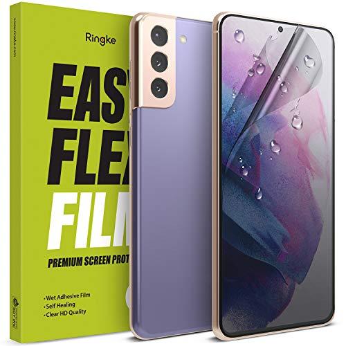 Ringke Easy Flex Kompatibel mit Galaxy S21 Displayschutz Schutzfolien [Wasser Installation] EPU Film Screen Protector - 2 Pack