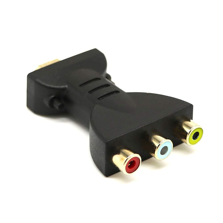 Sunnymal HDMI to 3 RCA Video Audio Converter Head AV Adapter Female Head 5ft/1.5m