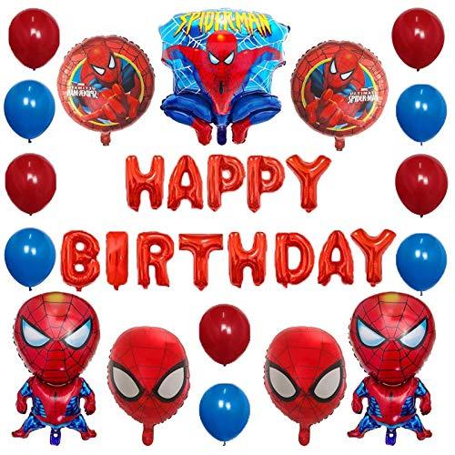 30 unids superhéroe araña hombre capitana américa lámina globo fiesta de cumpleaños decoración de látex aire globo día juguete (Color : Deep Sapphire)