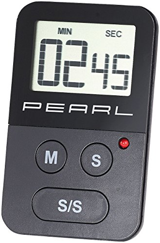 PEARL Küchentimer: Digitaler Küchen-Timer mit Stoppuhr, akustischem und optischem Alarm (Digitaler Küchentimer)