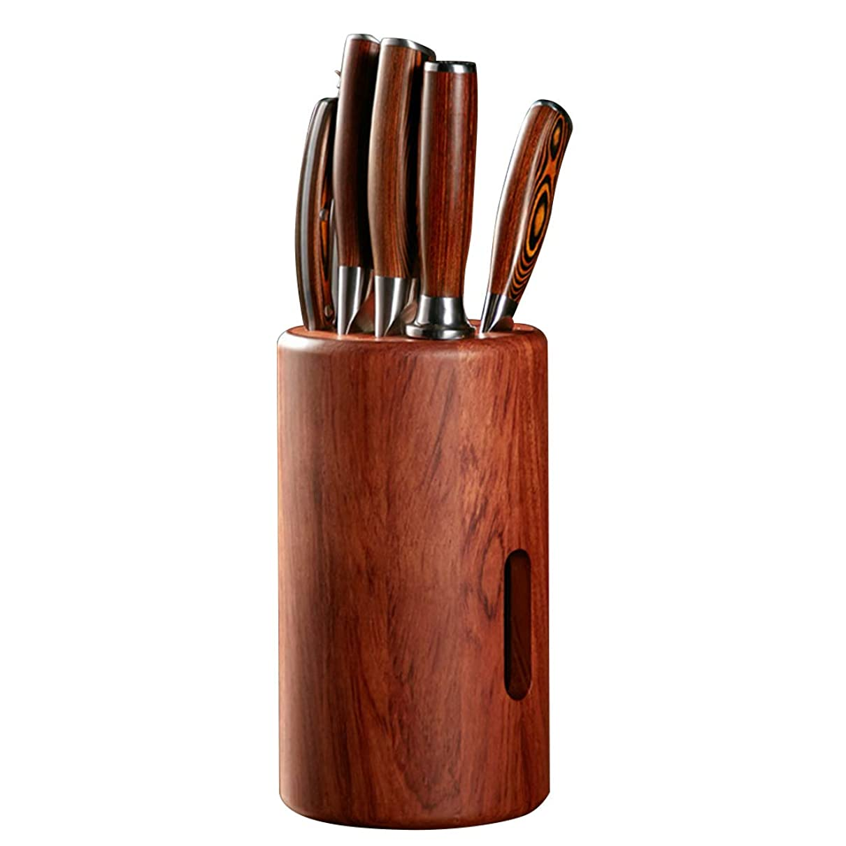 のど劣る雑多な铁锋区志诚机电商店 キッチンナイフ 木製ナイフ 収納 4スロット