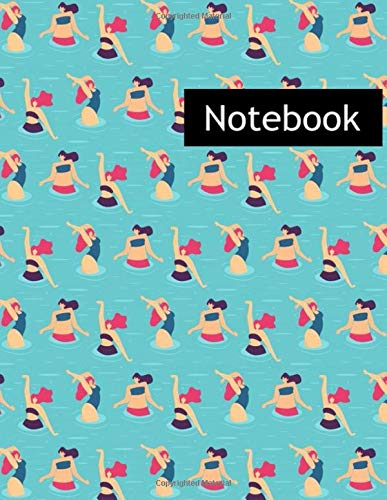Active Woman Pool Party : College Ruled Notebook & 2020 Planner: Lined notebook Gift, 120 Pages, 8.5x11, Soft Cover, Matte Finish
