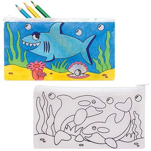 Baker Ross AT941 Inkleurbare Zeedieren Etuis (4 stuks) Knutselspullen en Knutselsets voor Kinderen