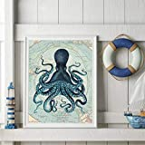 oioiu Haiti World Octopus Tentacle Vintage Poster druckt