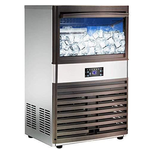 RTOFO Fabricante comercial de la máquina de hielo - 100 libras/24H de acero inoxidable Free-Standing Ice Machine Maker Refrigeración por aire