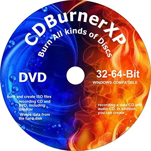 PRO CD DVD BURNER XP BURNING DVD FREE DVD VIDEO BURN AND CREATE DATA AUDIO BLU RAY ISO COMPATIBLE product image