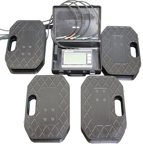 ProForm 67650 Vehicle Scale System Kit with 14-1/2' x 9-1/2' x 2-1/2' 4-Scale Pads - 1,250 lbs. Capacity Per Scale