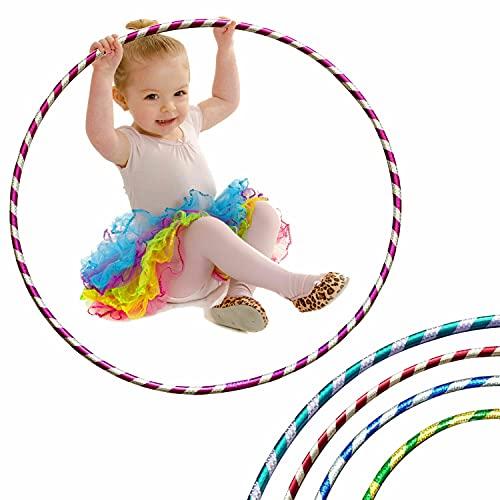 LUMOUS Hula Hoop de 70 cm para adultos y niños, juguete rojo para fitness, desmontable y tamaño ajustable, adecuado para gimnasia, baile, ejercicios divertidos, niñas, niños y mascotas