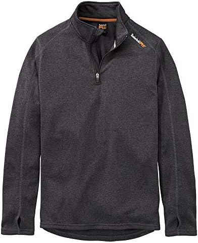 Timberland PRO Men s A112J Understory Quarter Zip Fleece Large Regular Dark Charcoal Heather product image