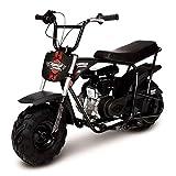 Mega Moto Gas Mini Bike 80CC / /2.5HP with Suspension (MM-B80-BRS)(Black)
