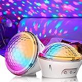 Proyector LED de cielo estrellado, luz nocturna para niños, con 4 modos y temporizador, lámpara de color blanco para fiesta de cumpleaños, dormitorio, salón
