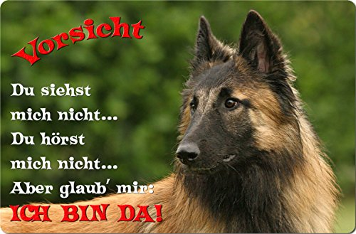 +++ TERVUEREN Belgischer Schäferhund - Metall WARNSCHILD Schild Hundeschild Sign - TRV 06 T2