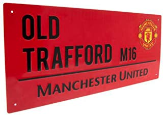 Manchester United FC Street Sign Red – Metal – Old Trafford