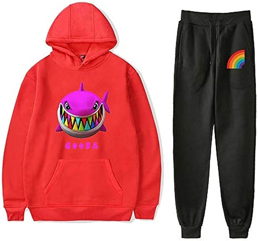 WAWNI 6ix9ine Gooba Hoodies Set Men Women Hoodie Pants Two-Piece Sweatshirt Suit