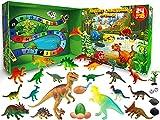 KITEOAGE Calendario de Adviento Dinosaurios 2021 con Juguetes de Dinosaurios de 24 Días Calendario Adviento Navidad para Niños Niñas