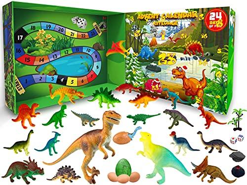 KITEOAGE Calendario de Adviento Dinosaurios 2021 con Juguetes de Dinosaurios de...