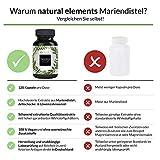 Mariendistel Artischocke Löwenzahn Komplex - 120 Kapseln - Hochdosiert mit 80% Silymarin - Ohne Magnesiumstearat, vegan