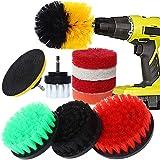 Rain Queen - 10 cepillos grandes de 5 cm a 12,5 cm para taladro y espeso para limpiar el taladro eléctrico, el coche, el baño, la cocina, los azulejos y las ventanas