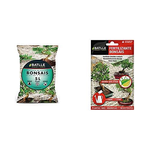 Sustratos - Sustrato Bonsais 5l. - Batlle + Abonos - Fertilizante Bonsais sobre para 1L - Batlle