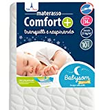 Babysom - Materasso  Lettino  Bambino Comfort+ | Per Neonato - 60 x 120 cm - Altezza 14cm ...