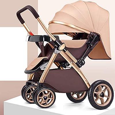 MC-BLL-Baby stroller El Cochecito de bebé Puede Sentarse reclinado Ligero Plegable Alto Paisaje Coche de bebé de Cuatro Ruedas Cochecito de bebé Cochecito de bebé