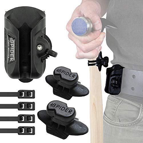 Spider Tool Holster - Hammer Holster Set - The Fastest Quick Draw Solution for Your Hammer and Hand Tools on The go!