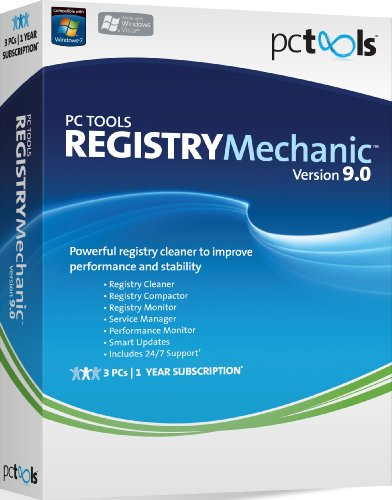 PC Tools Registry Mechanic 9, 3 PC Licence (PC CD)