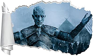 Game Of Thrones White Walker 3D Torn Hole Wall Sticker Decal Art Mural WT104