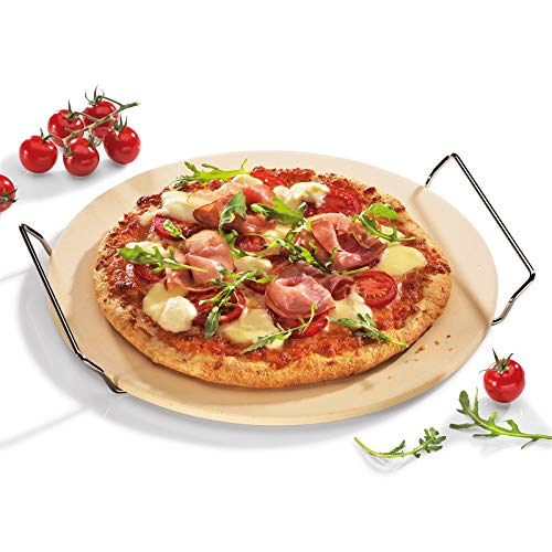 neuetischkultur Pizzastein mit Gestell Grillstein Pizzabrett