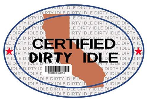 KCP Performance Fleet Certified Dirty Idle Sticker Decal for Diesel Trucks