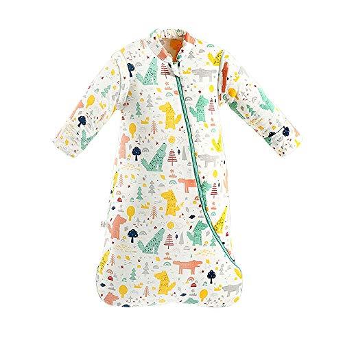 Plartree Baby Schlafsack mit Abnehmbaren Langen Ärmeln, 2,5Tog 100% Baumwolle Kids Winter Schlafsack für Kleinkinder 8-24 Monate (73-85CM) (Der Zauberer von Oz)