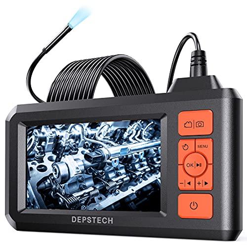 "DEPSTECH 5.5mm Lens Industrie Endoskopkamera 4,3\"" LCD-Bildschirm 1080P Digitales Endoskop IP67 wasserdicht Inspektionskamera, 6 Einstellbare LEDs, 5m halbstarres Kabel, 32GB Karte DS300"