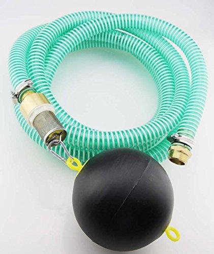 5m Saugschlauchgarnitur, PVC Spiralschlauch mit schwimmendem Ansaugfilter und 1