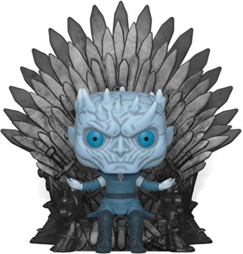 Funko- Pop Deluxe: Game of S10: Night King Sitting on Throne Figura Co