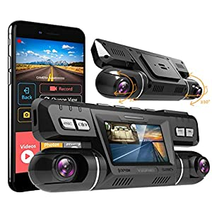 Vizomaoi P28 Front and Cabin Dual Dash Camera WIFI Review 2019