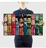 Dragon Ball Comic Set/Papel Kraft/Bar Poster/Pegatinas de pared/Cartel retro/Pintura decorativa 38X70Cm